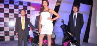 Deepika Padukone launch Yamaha Ray Scooter in Mumbai India 2012