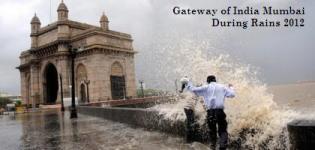 Gateway of India Mumbai During Rains 2012