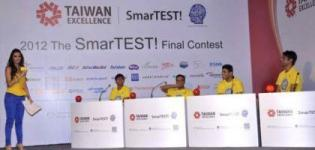 Dashing Malaika Arora Khan at SmarTEST 2012 Final Contest in Yellow Blue Outfits