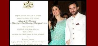 Saif Ali Khan and Kareena Kapoor Wedding Date 16th October 2012 - Marriage Photos