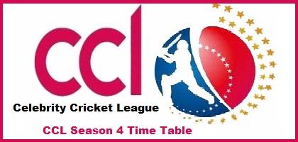 CCL 2017 Schedule:CCL 7 Time Table & Fixtures-Celebrity ...