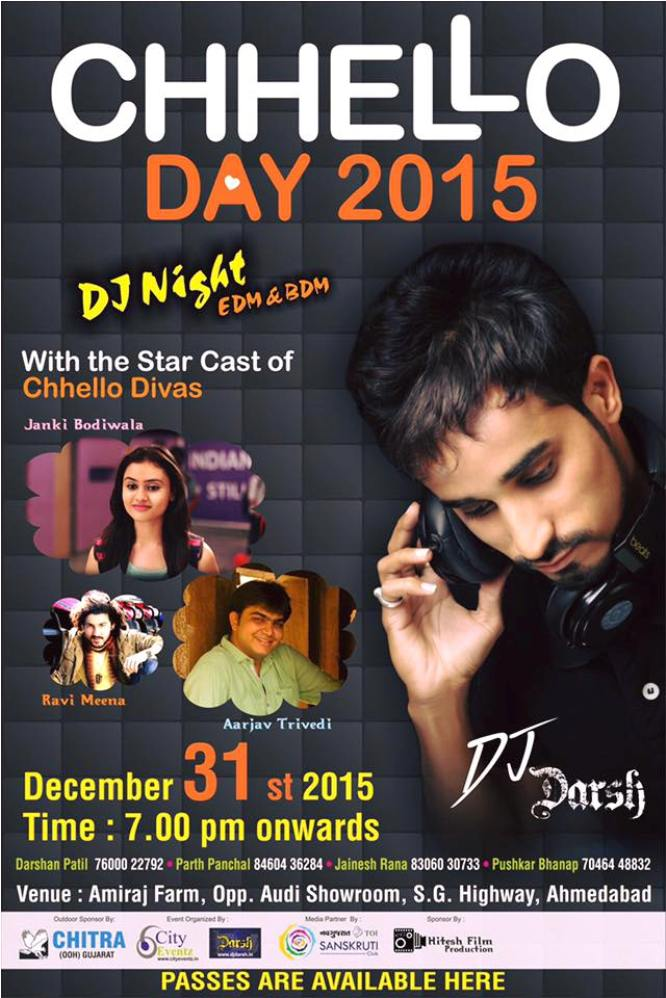 Chhello Day New Year 2015 Party With Chhello Divas Team In