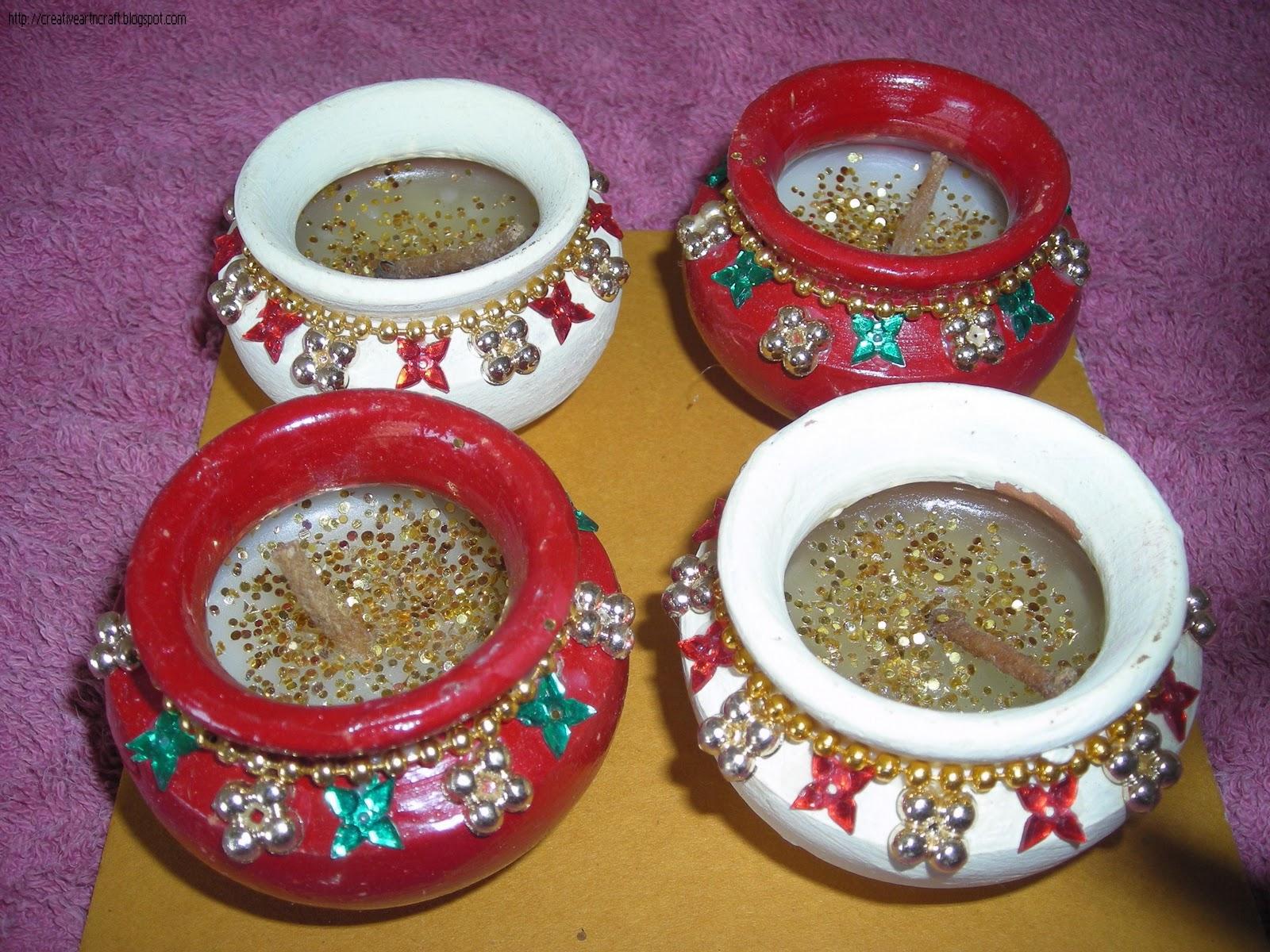 Diwali Diya Decoration Ideas Creative Craft Latest Diva Designs For Deepavali Images Recent