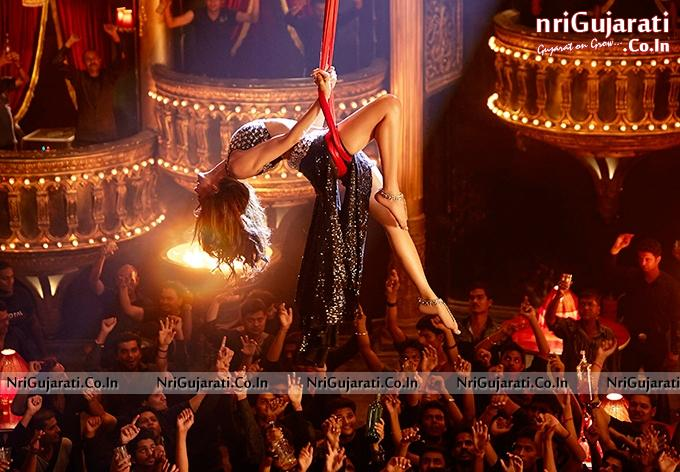 deepika padukone hanging dance picture in black hot dressing expose lovely long legs and bare thighs in happy new year film 2014