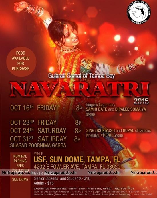 Gujarati Samaj Of Tampa Bay Presents Navratri Raas Garba