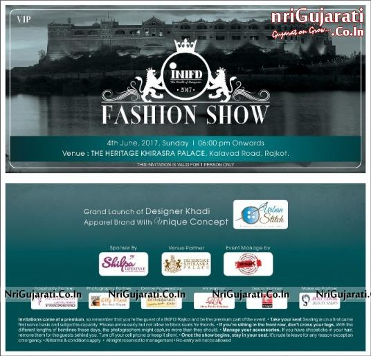 INIFD Fashion Show 2017 In Rajkot At The Heritage Khirasra