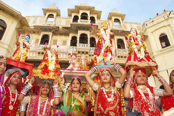 Gangaur Festival In Rajasthan 2015 Date Gauri Tritiya