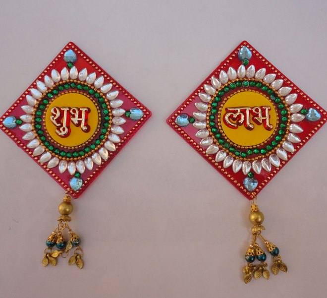 Diwali Shubh Labh Decoration Designs Shubh Laabh Creation Craft