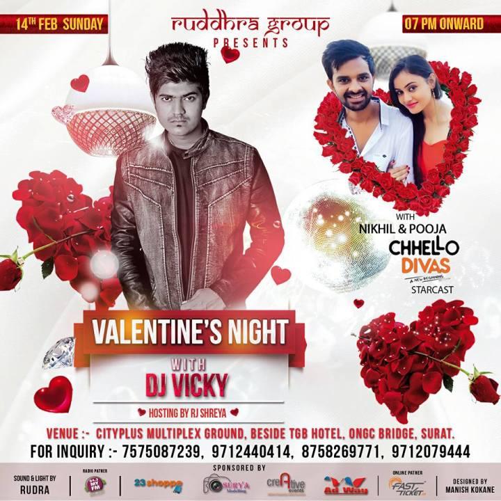 Valentine Night 2016 In Surat With Chhello Divas Star Nikhil